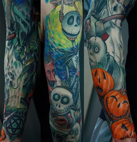 Nightmare before Christmas Eric James tattoo