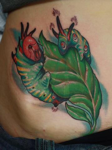 Eric James tattoo Phoenix Arizona caterpillar