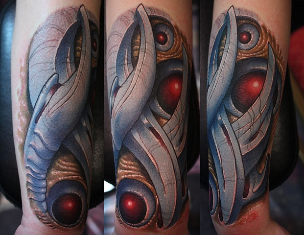 Bio-mech done at the motor city tattoo fest