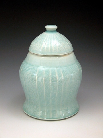 large covered jar