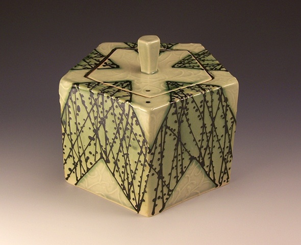 pentagonal box with knob