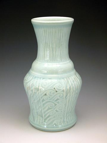 tattoed vase