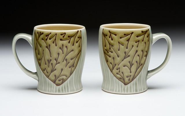 slim mugs avocado floral