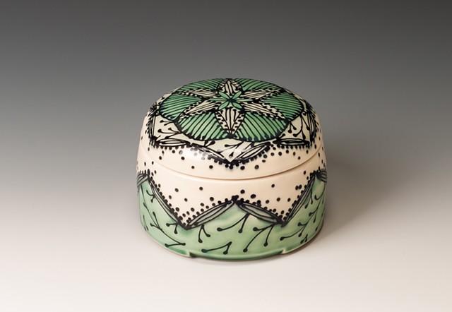 Small Persian Box, blue green