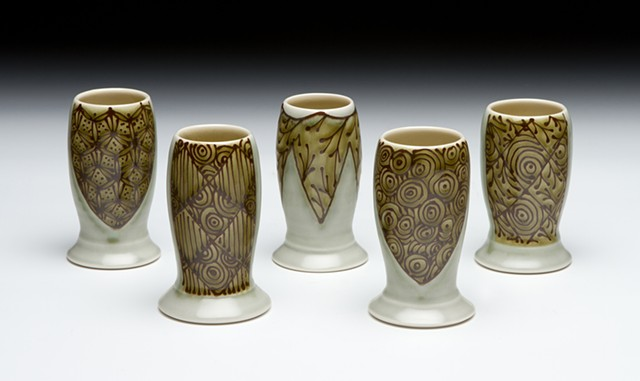 set of mini vases