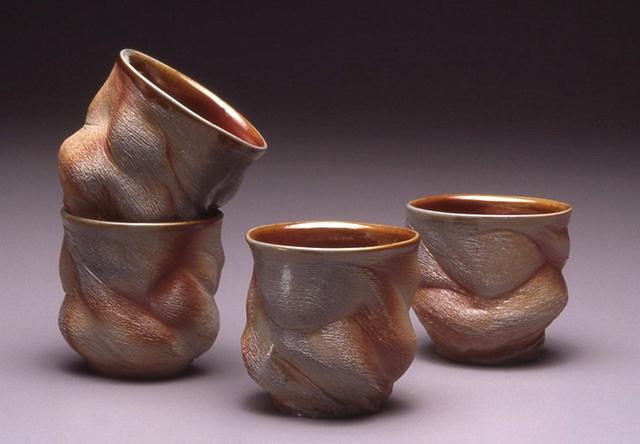 Four Shino Cups