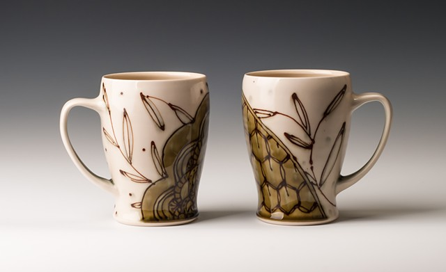 Pair of XL Oribe Mugs