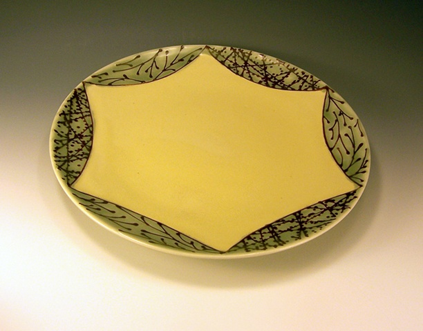 dinner plate without ledge