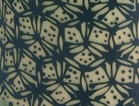 pattern hex blue green