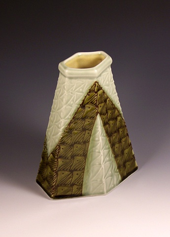 six sided vase