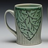 slim mugs floral blue/green