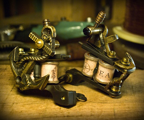 Black and Brass Anchors
