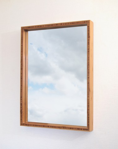 hanmade modern bamboo plywood mirror, custom wood mirrors, Andrew Traub, Andy Traub