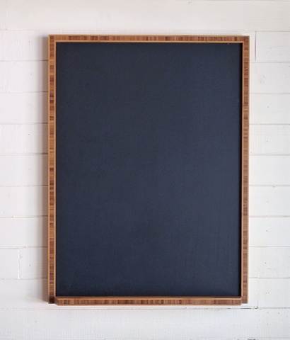 Handmade chalkboard with bamboo frame, designed and handmade by Andrew Traub.