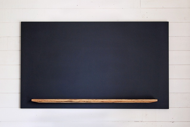 handmade chalkboard with tray