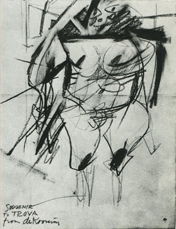 Souvenir for Trova from Willem de Kooning