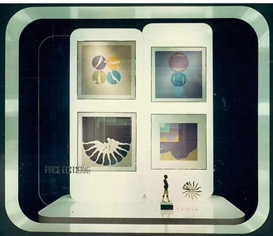 Pace Editions window display circa 1969.