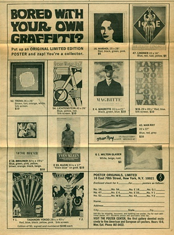 Poster Advertisement Late 1960s