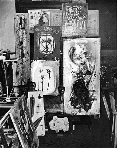 Trova's studio circa late 1940s.