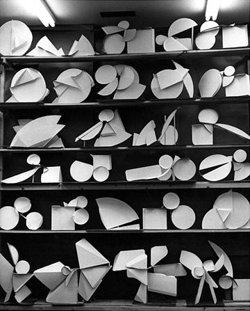 Paper Profile Canto models in studio circa 1973.