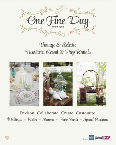 One Fine Day Tradeshow Sign