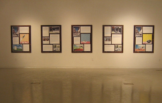 """Story Variations""   (Installation view that combines text and image to create a version of the story on the gallery walls)"