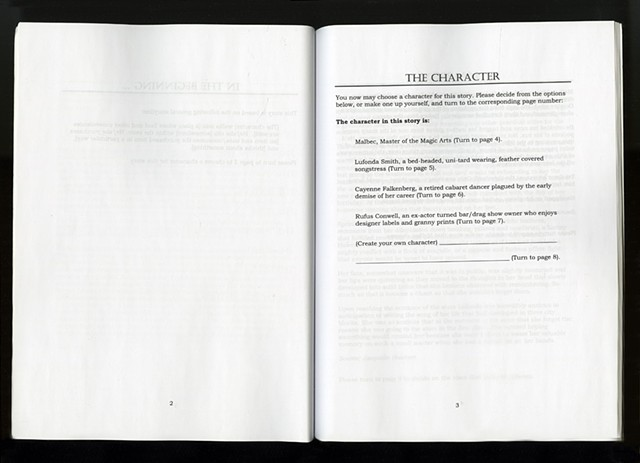 """The Usual"" - A Create Your Own Adventure Story  (Pages 2 and 3)"