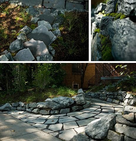 bona terra dc landscape design stone walkway dry stack retaining wall