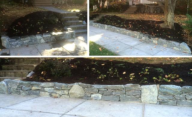 bona terra dc landscape design bonaterra stone patio fencing concrete