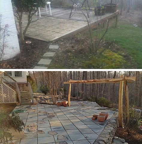 bona terra dc landscape design stone patio retaining walls pergola