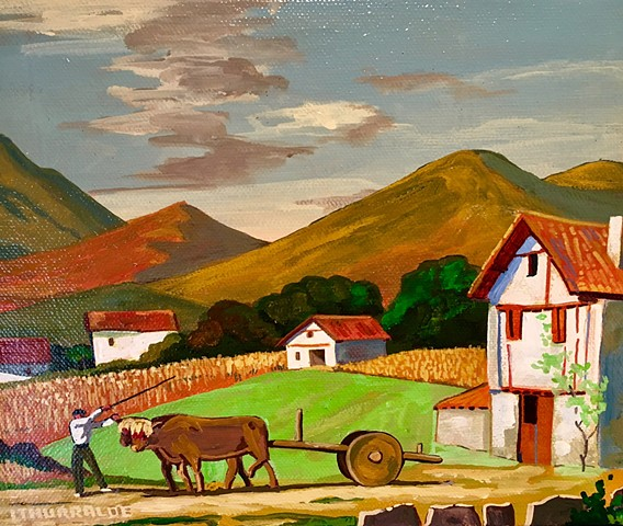 Replica of Basque Farm Painting