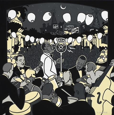 Louis Armstrong, Duke Ellington and Django Reinhardt
