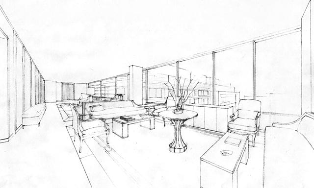 Lobby - line drawing