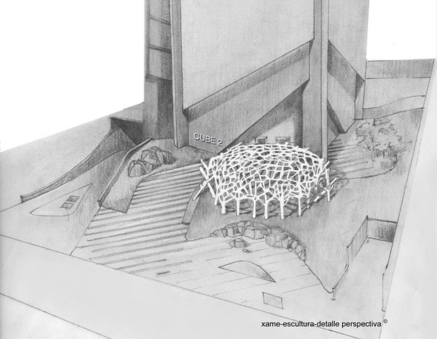 Sculptural Proposal Mexico, detail