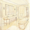Master Bathroom at Fifth Avenue