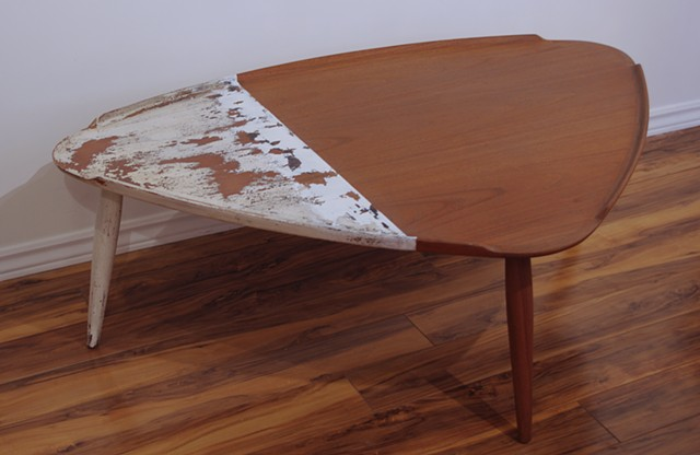 recycling furniture, mobilier, table basse, teck