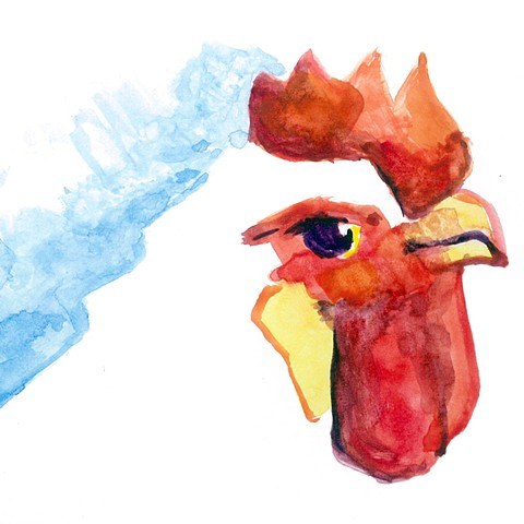 Chicken (watercolor sketch)