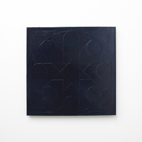 Compass: Blue Black (Relief)