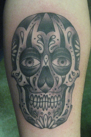 black n grey sugar skull