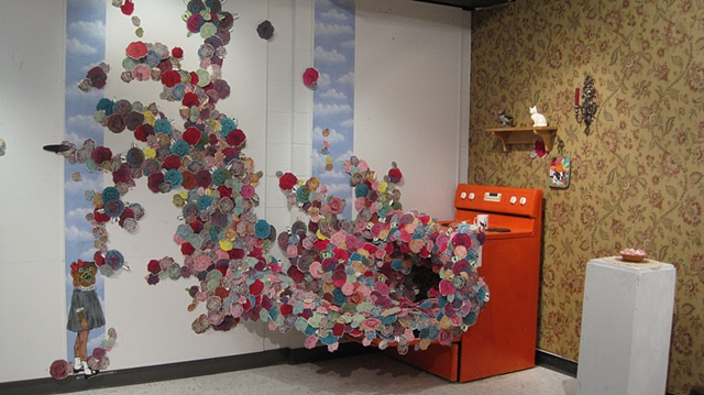 Installation Work Too Much Flower in the Cake Mixed Media 2011  Installation Work by: Dana Sikkila
