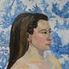 Jennifer White & Blue Fabric