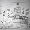 Blue Sofa Study