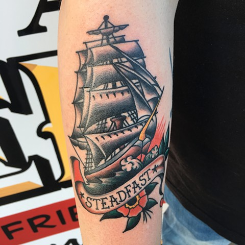 traditional color tattoo, sailor jerry