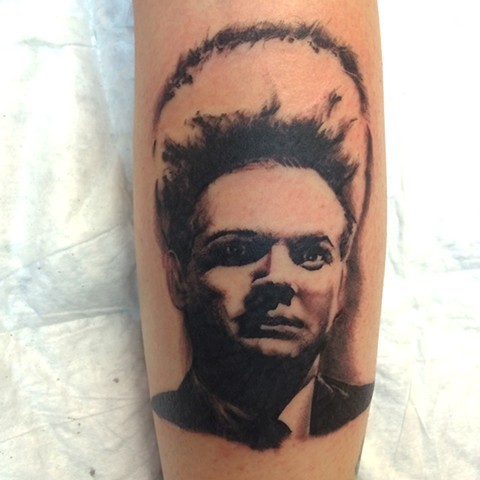 eraserhead black and grey realism tattoo