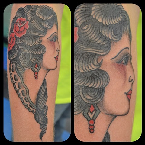 Tattoo, classic tattoo, traditional tattoo, color, sailor jerry