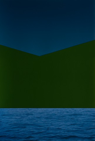 Ombré Night Blue with Green and Dark Sea