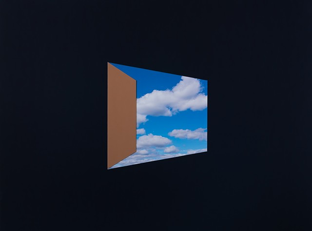 Door to Blue Sky with Clouds