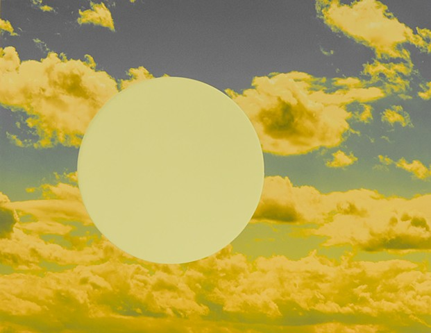 Yellow Sky with Circle