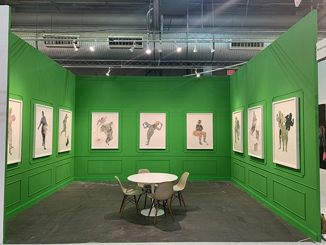 Installation view of solo booth exhibition at NYC Armory