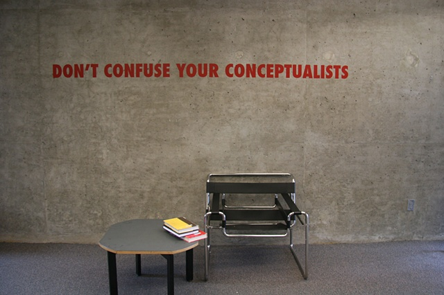 Don't Confuse Your Conceptualists
